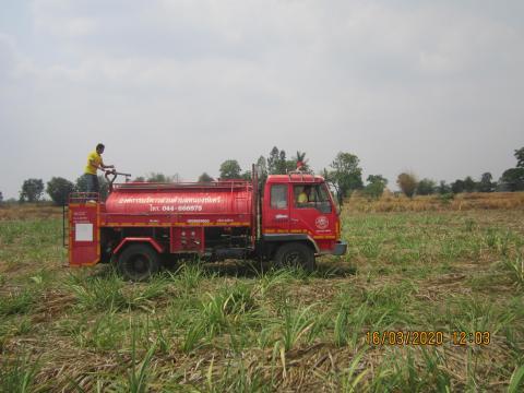 งานป้องกันและบรรเทาสาธารภัยเข้าระงับเหตุไฟไหม้